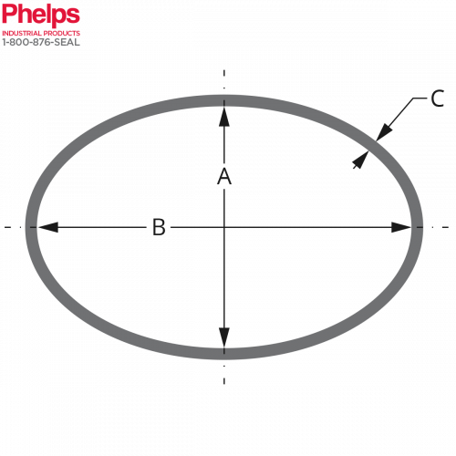 Phelps Style 12000 - Boiler Gasket Elliptical Shape, with dim