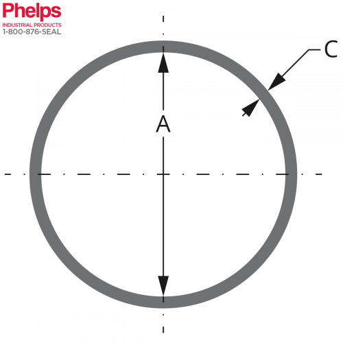 Phelps Style 12003 - Boiler Gasket Round Shape, with dim